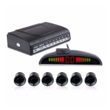 PZ-300-6 Car Parking Reversing Buzzer and LED Sensors Parking Alarm Assistance System with 6 Rear Radar