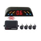 PZ-303-W Car Parking Reversing Buzzer and LED Monitor Parking Alarm Assistance System with 4 Rear Radar