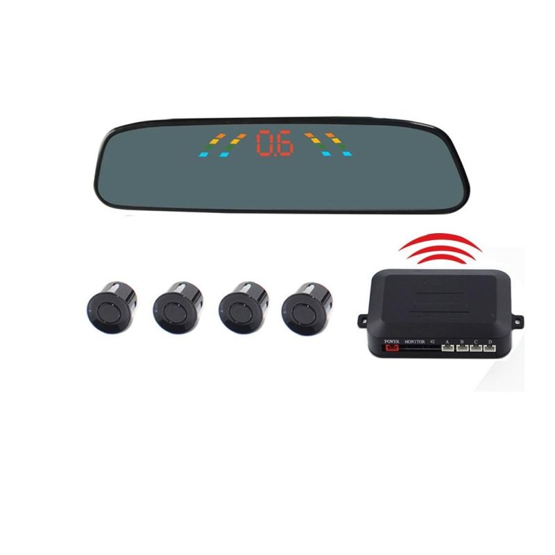 PZ-306-W Car Parking Reversing Buzzer 4.3inch LCD Screen Reverse Parking Sensors Automatic Wireless Parking Wireless Alarm Assistance System with 4 Rear Radar