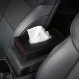 Universal Car Facial Tissue Box Case Holder Metal Frame Tissue Box Fashion and Simple Paper Napkin Bag (Black)