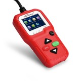 KW680 Mini OBDII Car Auto Diagnostic Scan Tools Auto Scan Adapter Scan Tool (Can Detect Battery and Voltage, Only Detect 12V Gasoline Car) (Red)