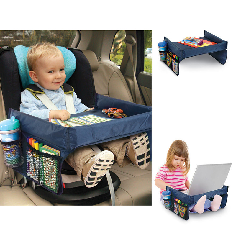 Child Console Baby Stroller Toy Stroller Organizer Baby Safety Tray Tourist Painting Holder Waterproof Dining Table Car Painting Tray