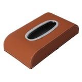 Universal Home Office Hotel Car Facial Tissue Box Case Holder Tissue Box Paper Napkin Bag (Brown)