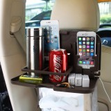 SHUNWEI SD-1509 Car Auto Back Seat Folding Table Drink Food Cup Tray Holder Stand Desk Multi-purpose Travel Dining Tray (Brown)