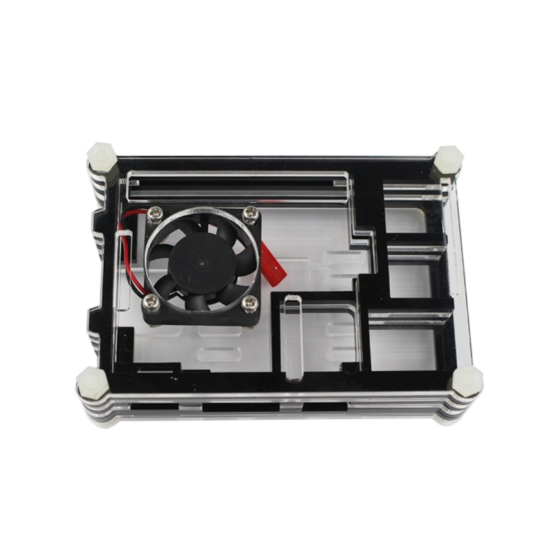 9 Layers Acrylic Box Shell Case with Cooling Fan for Raspberry pi 3 (Black)