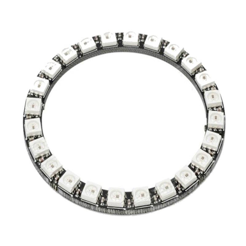ldtr  u2013 y00024 ws2812b 5050 led smart rgb ring 66mm 24 bit for arduino  u2013 black