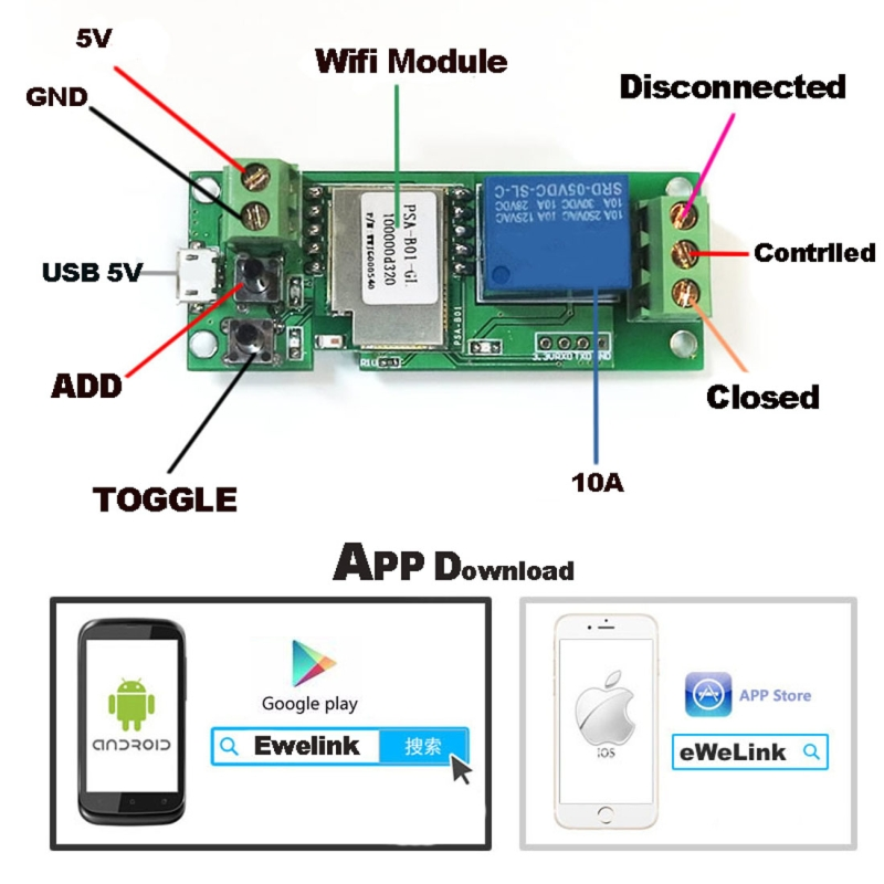 ... DIY9914_3.jpg ...  sc 1 st  Alexnld.com & Smart Home WiFi Mobile Phone Remote Control Switch APP Access Door ...