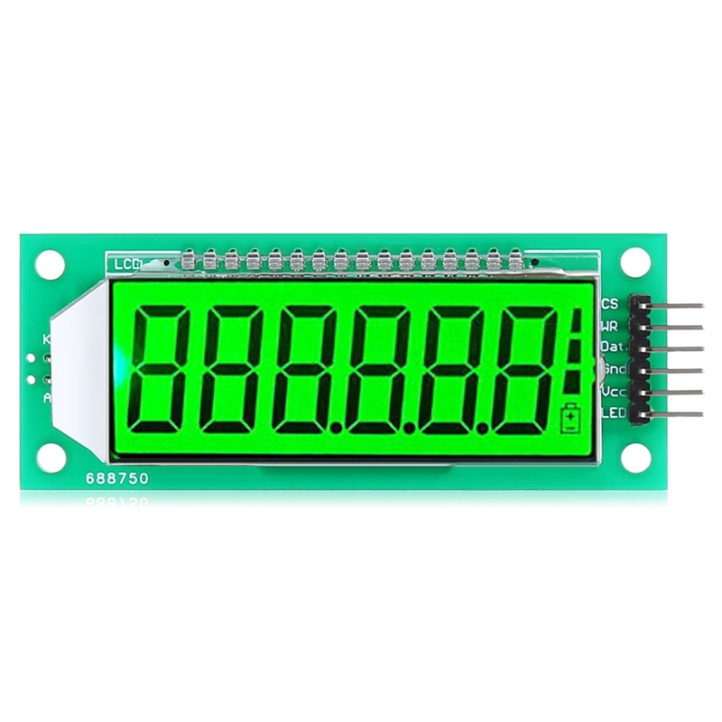 LDTR – WG0101 2 4 inch 6-digit 7-segment LCD Display Module for Arduino,  Screen Display Backlight Color: Green