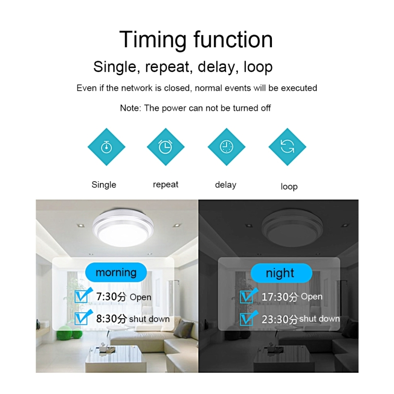 Sonoff Touch 86mm 1 Gang 1 Way Tempered Glass Panel Wall