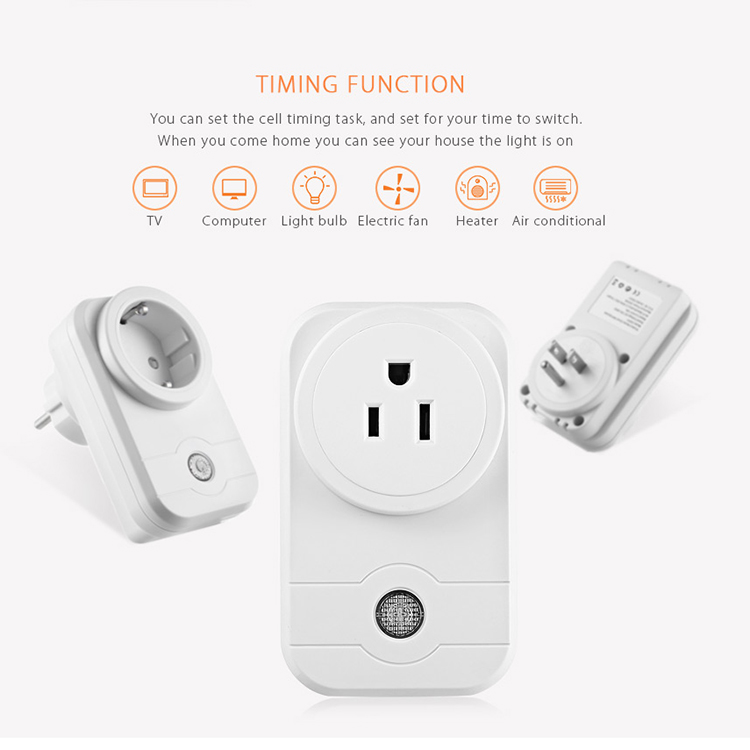 Alexa SWA1 10A Home Automation Wireless Smart WiFi Socket, Support  Smartphone Remote Control & Timing Switch, US Plug
