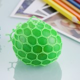5cm Anti-Stress Face Reliever Grape Ball Extrusion Mood Squeeze Relief Healthy Funny Tricky Vent Toy with Hanging Ring (Green)