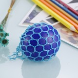 5cm Anti-Stress Face Reliever Grape Ball Extrusion Mood Squeeze Relief Healthy Funny Tricky Vent Toy with Hanging Ring (Blue)