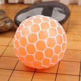 6cm Anti-Stress Face Reliever Grape Ball Extrusion Mood Squeeze Relief Healthy Funny Tricky Vent Toy (Orange)
