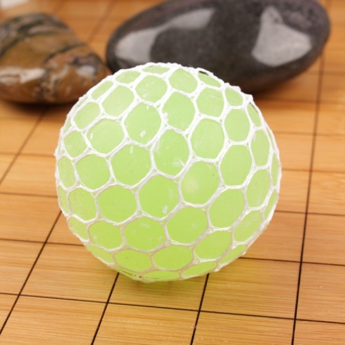 6cm Anti-Stress Face Reliever Grape Ball Extrusion Mood Squeeze Relief Healthy Funny Tricky Vent Toy (Green)