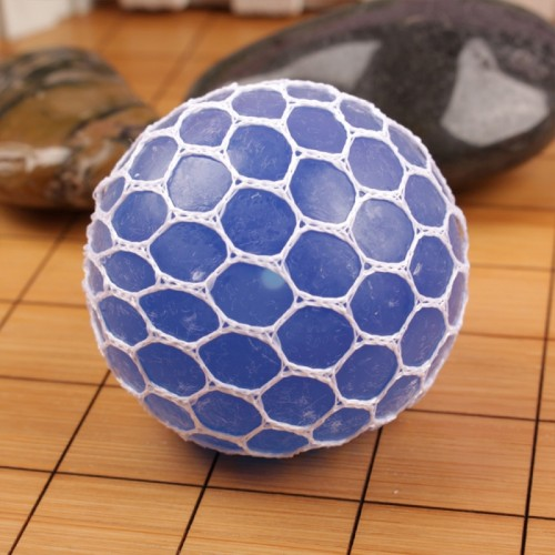 6cm Anti-Stress Face Reliever Grape Ball Extrusion Mood Squeeze Relief Healthy Funny Tricky Vent Toy (Blue)