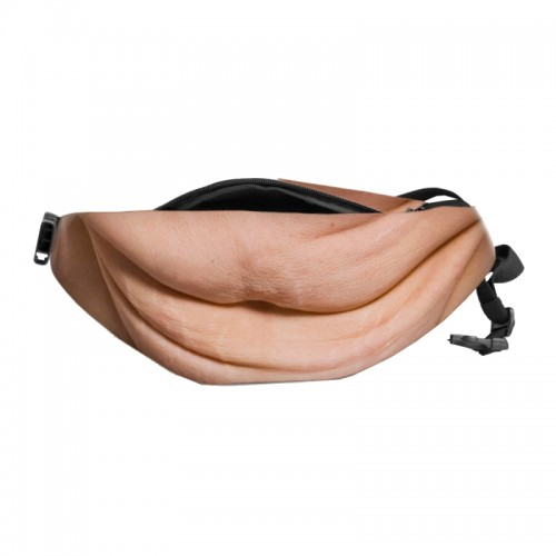 Creative Funny Anti-harassment Artificial Carnosity Belly Shape Outdoor Bags, Multifunctional Portable Unisex Sports Belly Waist Bag