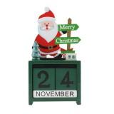 Santa Claus Moose Wooden Calendar Box Christmas Creative Office Decoration Ornaments