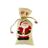 3 PCS Christmas Scene Decoration Tableware Cover Christmas Creative Sackcloth Dishes Bags Gifts Bags