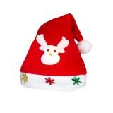 Christmas Decoration Napped Fabric Santa Hat Luminescent Children Dressing Up Christmas Hat