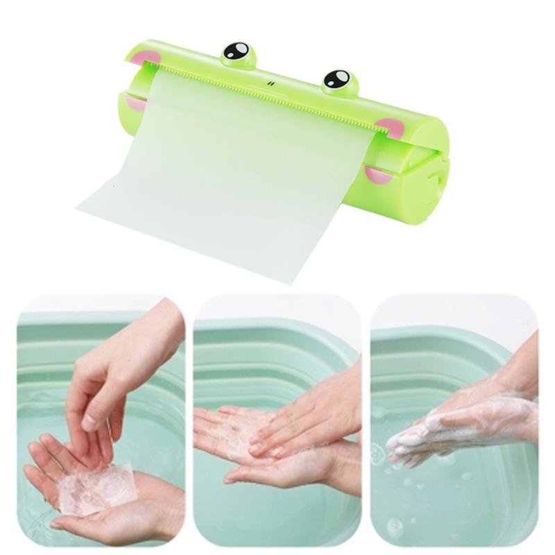 About 1.2m Portable Frog Pattern Hand Washing Convenient Scented Soap Sheets