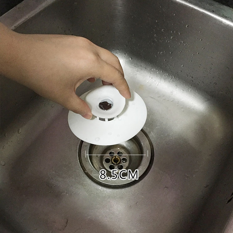 2 Pcs Silicone Drain Stopper Deodorant Sink Bathtub Floor