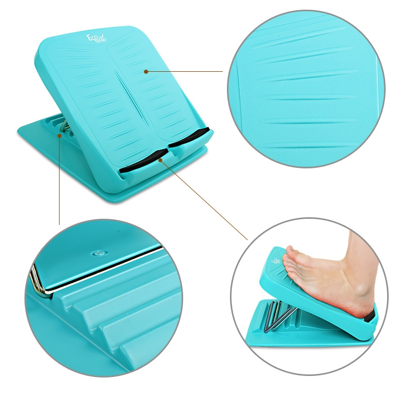 Foldable Stretching Plantar Massage Pedal Standing Body Sculpting Slimming Stretching Panels Wedge, 27*30.5cm (Blue-green)