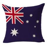 Australia National Flag Pattern Cotton Linen Pillow Case, 45*45cm