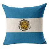 Argentina National Flag Pattern Cotton Linen Pillow Case, 45*45cm