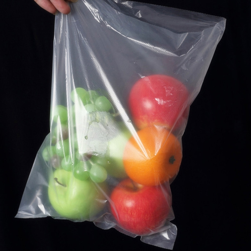 Roll Food Storage Bag Safety Vacuum Sealer Food Saver Bag for Kitchen Vacuum Storage Keep Food Fresh Grain Bag PE Bags, 25*35cm