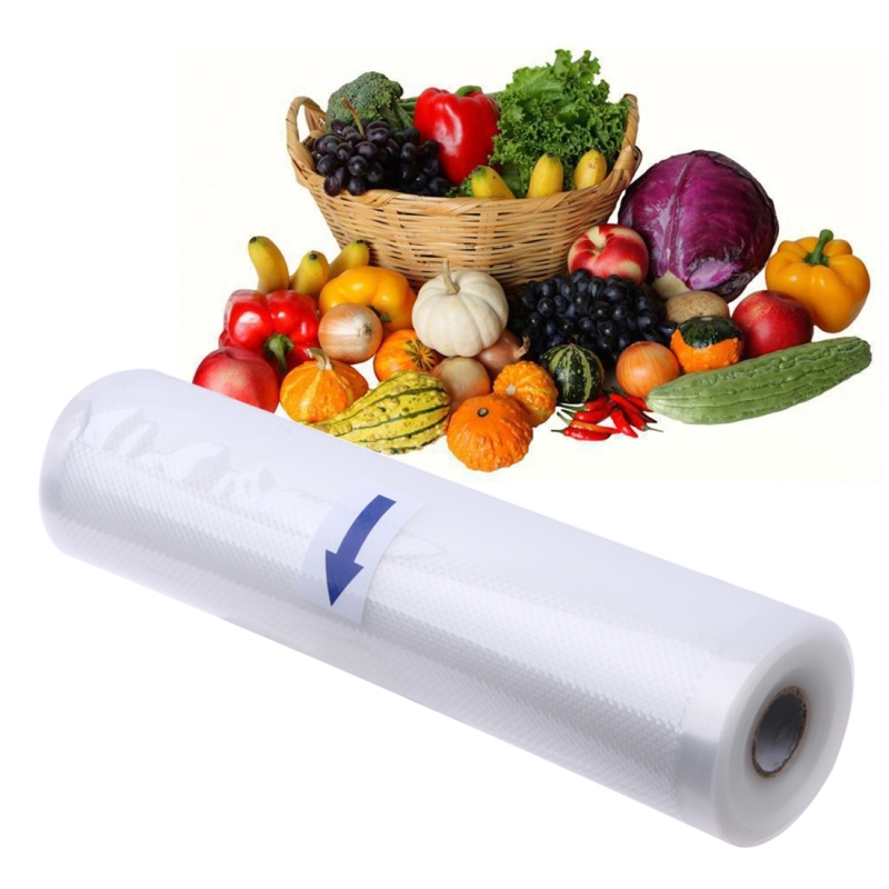Roll Food Storage Bag Safety Vacuum Sealer Food Saver Bag for Kitchen Vacuum Storage Keep Food Fresh Grain Bag PE Bags, 35*45cm