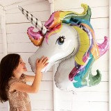 88*108cm Giant Rainbow Unicorn Party Supplies Foil Balloons Kids Cartoon Animal Horse Birthday Party Decorations