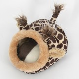 Lovely Mini Giraffes Shape Guinea Pig Pet Beds, Comfortable Spider Hamster Cotton Pet House, S, 19*17*13 cm