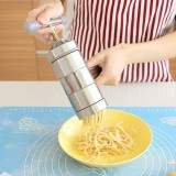 Household Stainless Steel Manual Pasta Machine Hand Pressure Noodle Machine Noodle Maker With 5 Models