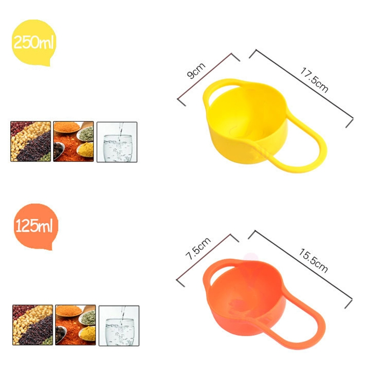 8 Pieces Set Creative Rainbow Salad Bowl Measuring Cup Measuring Spoon Kitchen Tools