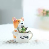 Small Short Leg Kirk Dog Cartoon Multi-meat Plant Pots Office Home Green Plant Ornaments Sitting Position