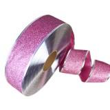 2m Christmas Party Decoration Glitter Powder Christmas Tree Decoration Ribbon (Pink)