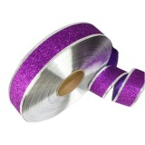2m Christmas Party Decoration Glitter Powder Christmas Tree Decoration Ribbon (Purple)