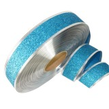 2m Christmas Party Decoration Glitter Powder Christmas Tree Decoration Ribbon (Baby Blue)