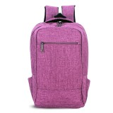 Universal Multi-Function Canvas Cloth Laptop Computer Shoulders Bag Business Backpack Students Bag, 43x28x12cm, For 15.6 inch and Below Macbook, Samsung, Lenovo, Sony, DELL Alienware, CHUWI, ASUS, HP (Purple)