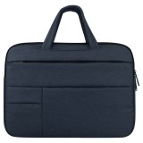 Universal Multiple Pockets Wearable Oxford Cloth Soft Portable Leisurely Handle Laptop Tablet Bag, For 13.3 inch and Below Macbook, Samsung, Lenovo, Sony, DELL Alienware, CHUWI, ASUS, HP (navy)