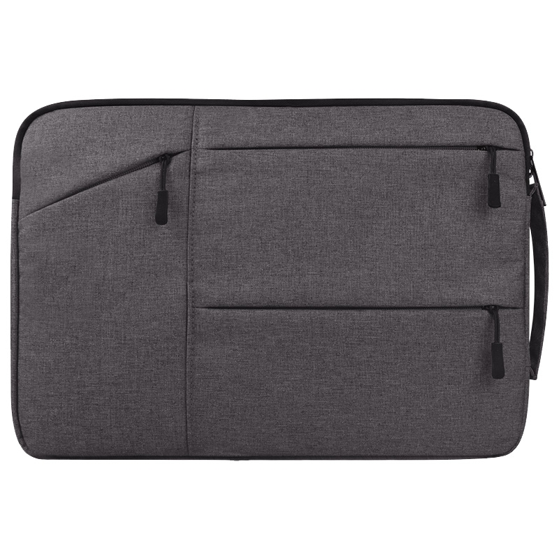 Universal Multiple Pockets Wearable Oxford Cloth Soft Portable Simple Business Laptop Tablet Bag, For 12 inch and Below Macbook, Samsung, Lenovo, Sony, DELL Alienware, CHUWI, ASUS, HP (Grey)