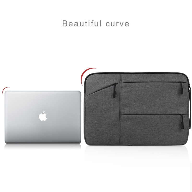 Universal Multiple Pockets Wearable Oxford Cloth Soft Portable Simple Business Laptop Tablet Bag, For 12 inch and Below Macbook, Samsung, Lenovo, Sony, DELL Alienware, CHUWI, ASUS, HP (Light Grey)