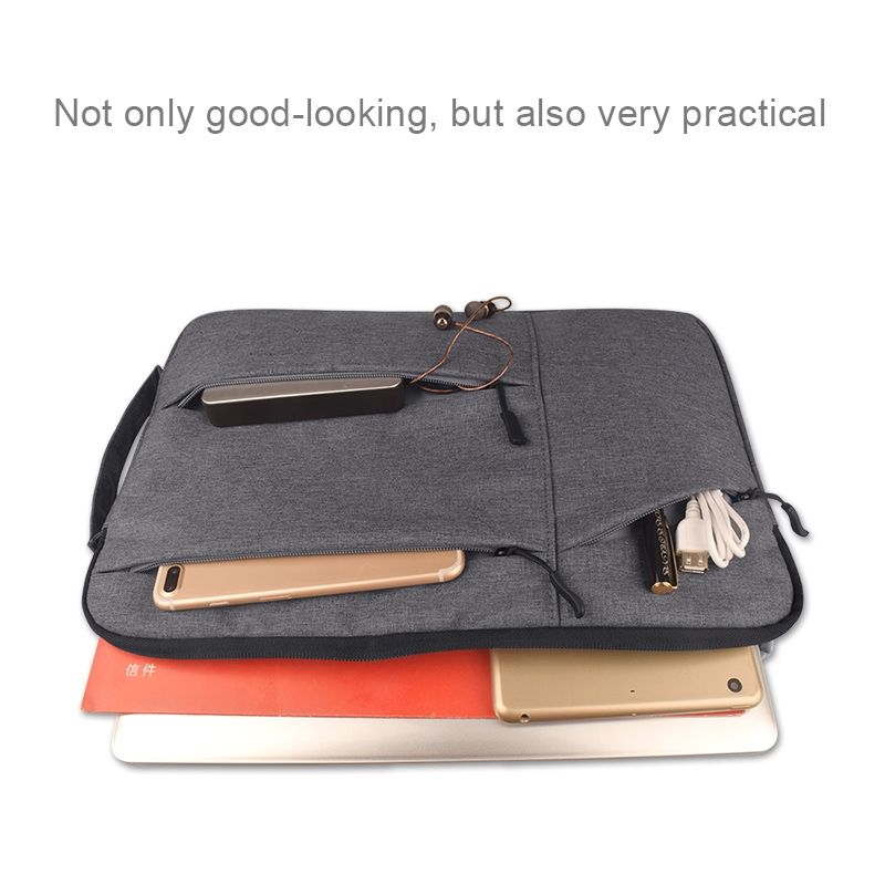 Universal Multiple Pockets Wearable Oxford Cloth Soft Portable Simple Business Laptop Tablet Bag, For 13.3 inch and Below Macbook, Samsung, Lenovo, Sony, DELL Alienware, CHUWI, ASUS, HP (Light Grey)