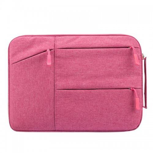 Universal Multiple Pockets Wearable Oxford Cloth Soft Portable Simple Business Laptop Tablet Bag, For 13.3 inch and Below Macbook, Samsung, Lenovo, Sony, DELL Alienware, CHUWI, ASUS, HP (Magenta)