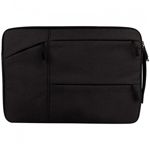 Universal Multiple Pockets Wearable Oxford Cloth Soft Portable Simple Business Laptop Tablet Bag, For 14 inch and Below Macbook, Samsung, Lenovo, Sony, DELL Alienware, CHUWI, ASUS, HP (Black)