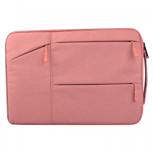 Universal Multiple Pockets Wearable Oxford Cloth Soft Portable Simple Business Laptop Tablet Bag, For 14 inch and Below Macbook, Samsung, Lenovo, Sony, DELL Alienware, CHUWI, ASUS, HP (Pink)