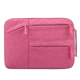 Universal Multiple Pockets Wearable Oxford Cloth Soft Portable Simple Business Laptop Tablet Bag, For 14 inch and Below Macbook, Samsung, Lenovo, Sony, DELL Alienware, CHUWI, ASUS, HP (Magenta)