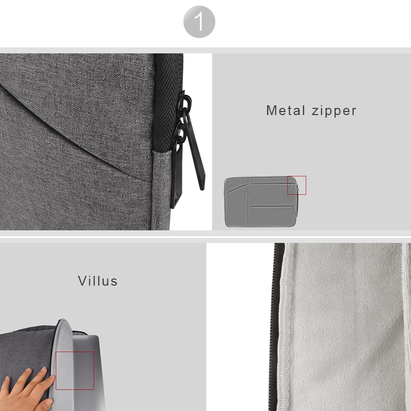 Universal Multiple Pockets Wearable Oxford Cloth Soft Portable Simple Business Laptop Tablet Bag, For 14 inch and Below Macbook, Samsung, Lenovo, Sony, DELL Alienware, CHUWI, ASUS, HP (navy)