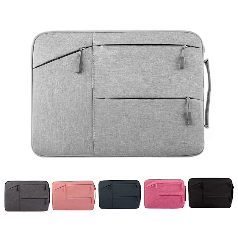 Universal Multiple Pockets Wearable Oxford Cloth Soft Portable Simple Business Laptop Tablet Bag, For 14 inch and Below Macbook, Samsung, Lenovo, Sony, DELL Alienware, CHUWI, ASUS, HP (Grey)