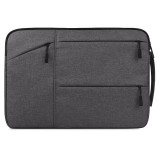 Universal Multiple Pockets Wearable Oxford Cloth Soft Portable Simple Business Laptop Tablet Bag, For 15.6 inch and Below Macbook, Samsung, Lenovo, Sony, DELL Alienware, CHUWI, ASUS, HP (Grey)